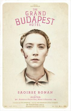 Saoirse Ronan as Agatha ~ Apprentice Pastry Girl, Mendl's Patisserie #thegrandbudapesthotel