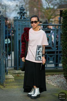 London Fashion Week Fall 2017 Street Style: Olivia Kim