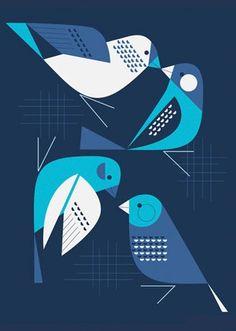 Bye Blue Finches - Eleanor Grosch
