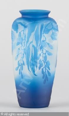 Val st lambert cobalt cut to clear vase with gilt etched for Decoration quadrilobe
