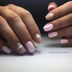 Winter Nails Designs - My Cool Nail Designs Classy Nail Designs, Pink Nail Designs, Cool Nail Designs, Nails Design, Minimalist Nails, Matte Nails, Diy Nails, Manicure, Ring Finger Nails
