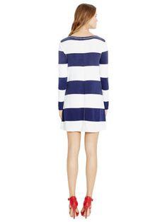 Striped Long-Sleeved Dress - Polo Ralph Lauren Short Dresses - RalphLauren.com