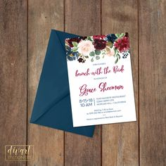 Floral Bridal Shower Invitation, Brunch with the Bride Invitation, Couples Shower Invitation, Engagement Party Invitation - Grace by DIVart on Etsy