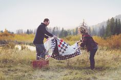 Cute Utah mountain picnic Engagements by Sweet Memory Garden