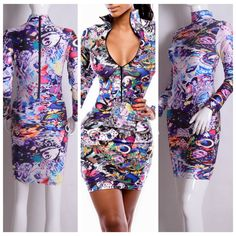 Find More Apparel & Accessories Information about Fashion Zipper Bodycon Vestidos De Festa Women Long Sleeve Autumn Winter Dress Sexy Floral Printed Bandage Dress Party Dress,High Quality dress cross-stitch,China dress cool Suppliers, Cheap dresses dress from Hangzhou NEW Fashion Co., Ltd on Aliexpress.com