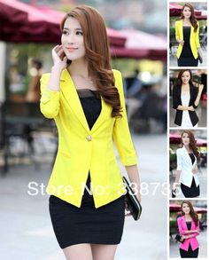 New Rushed Regular Solid Single Button 2014 Blazer Women for Za Famous Brand & Lace Fashion Female Casual Suit S-xxl Shipping $15.80