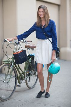 Spring 2014 NYFW – Cycle Chic Street Style