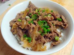 homemade yoshinoya beef bowl