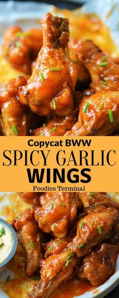 Check this spicy, hot & slightly sweet Chicken wings recipe that taste just like Buffalo wild wings spicy garlic wings. Made with the copycat spicy garlic sauce these oven baked chicken wings are ultr Sweet Chicken Wings Recipe, Chicken Wings Spicy, Spicy Chicken Recipes, Chicken Appetizers, Seafood Recipes, Appetizer Recipes, Cooking Recipes, Easy Recipes, Crispy Chicken