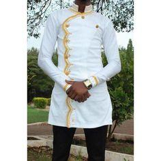 African men's clothing / African fashion/ wedding suit/dashiki / African men's shirt/ vêtement africain/ chemise et pantalon/ Ankara styles. African Dresses Men, African Clothing For Men, African Attire, African Wear, Men African Shirts, Nigerian Men Fashion, African Print Fashion, Africa Fashion, Mens Fashion