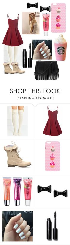 """""""Going To Starbucks!"""" by swagger652 ❤ liked on Polyvore featuring Glamorous, Maybelline, Marc by Marc Jacobs, Bobbi Brown Cosmetics, White House Black Market, women's clothing, women's fashion, women, female and woman"""