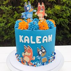 Images about #blueycake on Instagram 4th Birthday, Birthday Ideas, Birthday Parties, Birthday Cake, Party Themes, Party Ideas, Fiesta Party, Let Them Eat Cake, Cake Ideas