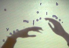 Camille Utterback - Text Rain  Interactive Digital Art.