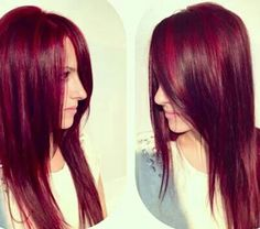 Formula from behindthechair.com  Beautiful red violet hair color