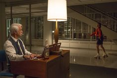 Pin for Later: The Bold Costumes on Mad Men Are the Reason Why We Already Miss the Show Season 7 Roger Sterling and Peggy Olson
