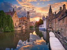 Characterized by cobblestone streets and canals, much of Bruges's immaculately preserved old city was built between the 12th and 15th centuries: As a result, it's not hard to feel like you're in a medieval fairy-tale here. Visit the Church of Our Lady for a viewing of Michelangelo's Madonna and Child, or sit at a café and take in the views of the Markt, a historic square in the city center. —K.L.