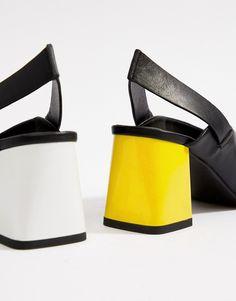 06f635d5a46 ASOS DESIGN Howdy toe loop mis-match block heeled sandals at asos.com