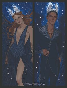 A Court Of Wings And Ruin, A Court Of Mist And Fury, Feyre And Rhysand, Fanart, Captive Prince, Sarah J Maas Books, Crescent City, Book Fandoms, Book Characters