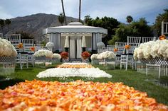 just a light sprinkling of rose petals down the aisle by karen tran - lol