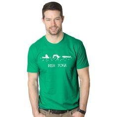 Irish Yoga T Shirt Funny Saint Patricks Day Drinking Tee