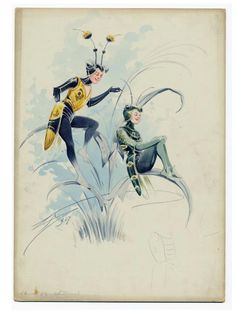 """Costume design for the play """"Insects"""" by Attilio Comelli, Theatre Royal, Drury…"""