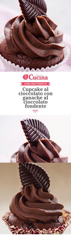 #Cupcake al #cioccolato con ganache al cioccolato fondente (Mini Muffin Ricetta)