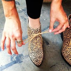 Cheetah-print booties!  Quirky!  Definitely prefer this over leopard-print.