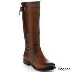 Step out in these fashionable knee-high riding boots from Blossom. These boots feature a buckle accent on the shaft and a full-zip entry for easy dressing. Comfy Shoes, Cool Boots, Brown Boots, On Shoes, Knee High Boots, Shoes Online, Riding Boots, Combat Boots, High Knees