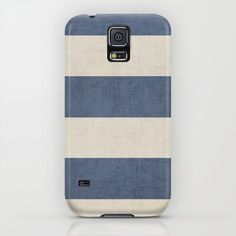 vintage dark blue stripes iPhone & iPod Case