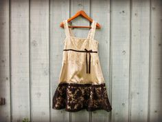 Med. Romantic Lace Summer Dress//Taupe Black// by emmevielle, $79.00