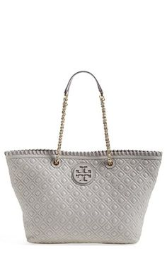 Tory Burch 'Small Marion' Leather Tote | Nordstrom.  Smaller but still swoonworthy @Allison Polimeno