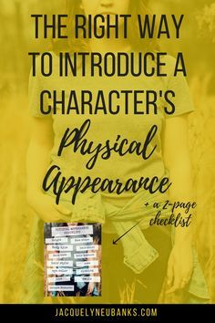 Introduce your characters' physical appearance the right way! Avoid cliches or overdrawn descriptions with these tried-and-true novel writing tips.