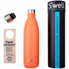 S'Well | Insulated Bottle Satin Collection 750ml - Birds of Paradise Stainless Steel Bottle, Paradise, Water Bottle, Satin, Birds, Collection, Elastic Satin, Water Bottles, Bird