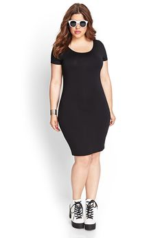 Wardrobe staple to dress up with accesories - Classic Bodycon Dress | FOREVER21 #F21Plus