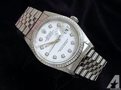 Rolex Datejust Date Watch Diamonds