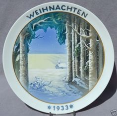 ROSENTHAL-1933-CHRISTMAS-Weihnachten-Plate-Through-the-Night-to-the-Light Christmas Plates, Lighting, Night, Frame, Ebay, Home Decor, Christmas, Picture Frame, Decoration Home