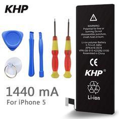 Original KHP Phone Battery For iphone 5 5G Real Capacity 1440mAh //Price: $13.73 & FREE Shipping //     #hashtag2