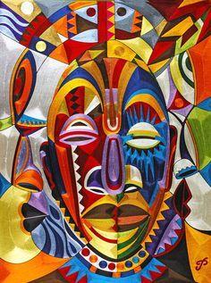African Masks Art/ illustrations - Google Search