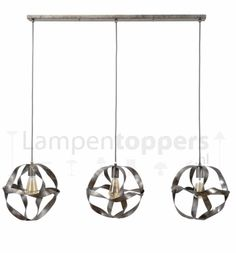 Hanglamp Twist Old Silver 3x30cm Ø