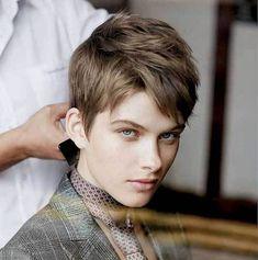 15 New Cutting-Edge Pixie Haircuts: #1. Light Brown Pixie Haircut