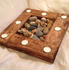 Candle holder with natural stones DIY