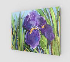 "Canvas+""Purple+Iris+20+x+16""+by+Karen+June+Booth"