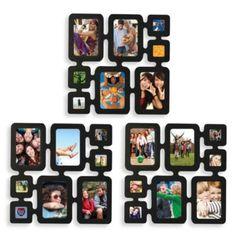 Multiframe 8-Photo Wall Collage in Black (Set of Three) - BedBathandBeyond.com