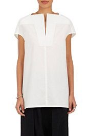 Cotton Poplin Tunic Shirt