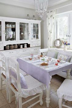 Kitchen - Warm, cozy decor kitchen in the English style.  kitchen, English style, white