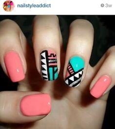 Patterned gel nail art