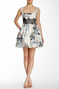 Lace Inset Silk Dress by Marchesa Notte on @HauteLook