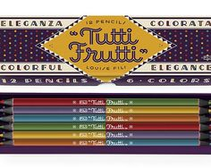 TuttiFrutti pencil set by Louise Fili - available at Fitzroy Shop