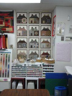 House Block Quilt at Cambridge Quilt Shop.