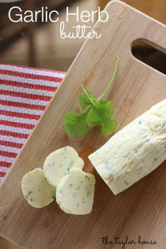 Flavored Butter Recipe, Garlic Herb Butter